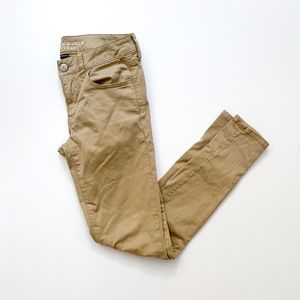 American Eagle Jegging Skinny khaki tan color | 4